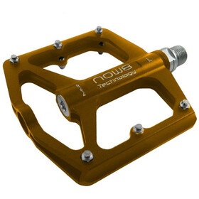 NOW8 M46 Flat Pedals 6 Pins, gold